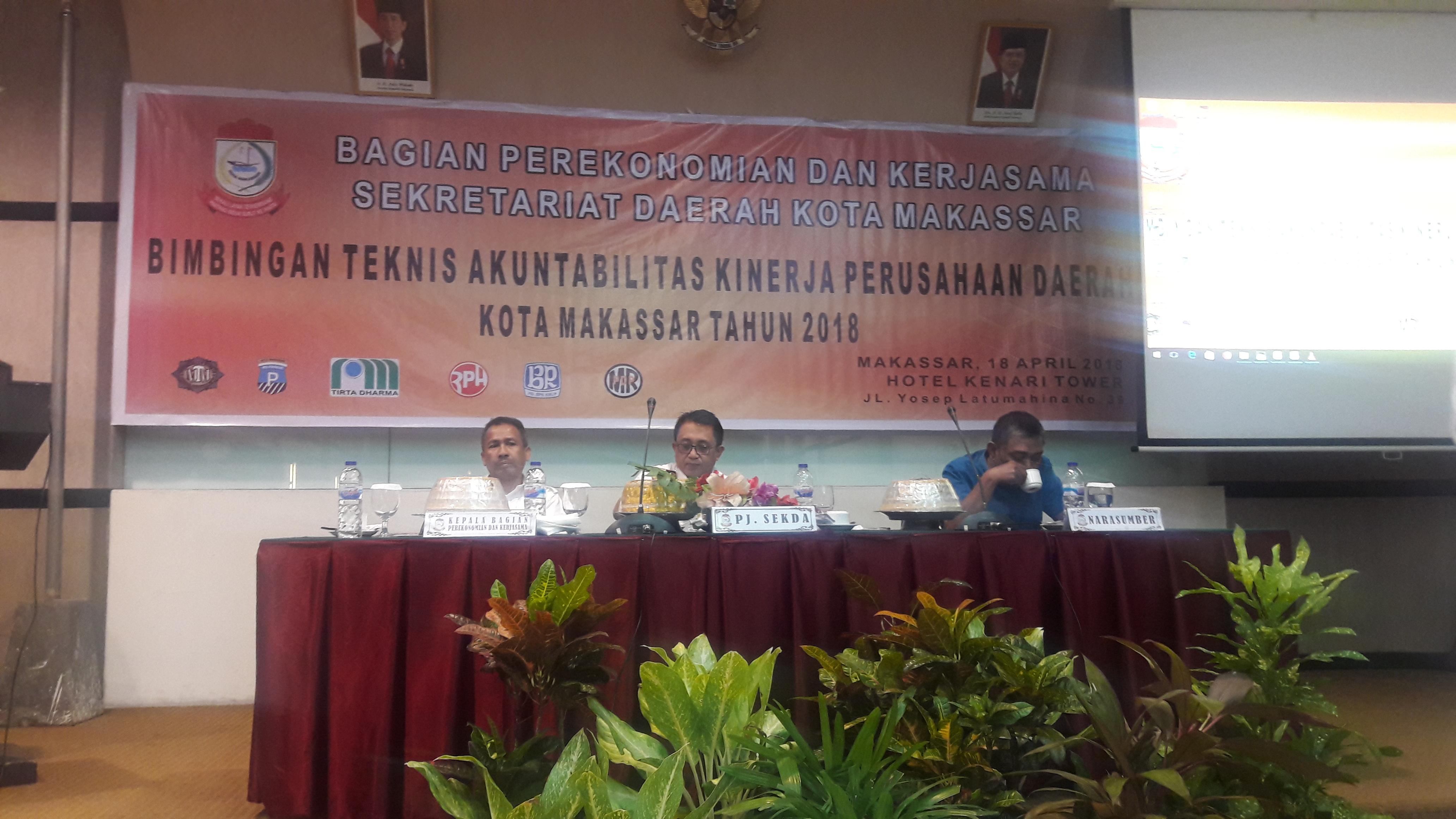 Dirum RPH Bersama Staf Mengikuti Bimtek Akuntabilitas Perusda Kota Makassar