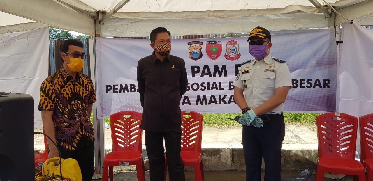 Abdi Asmara tinjau Kesiapan PSBB Di Perbatasan Makassar-Maros