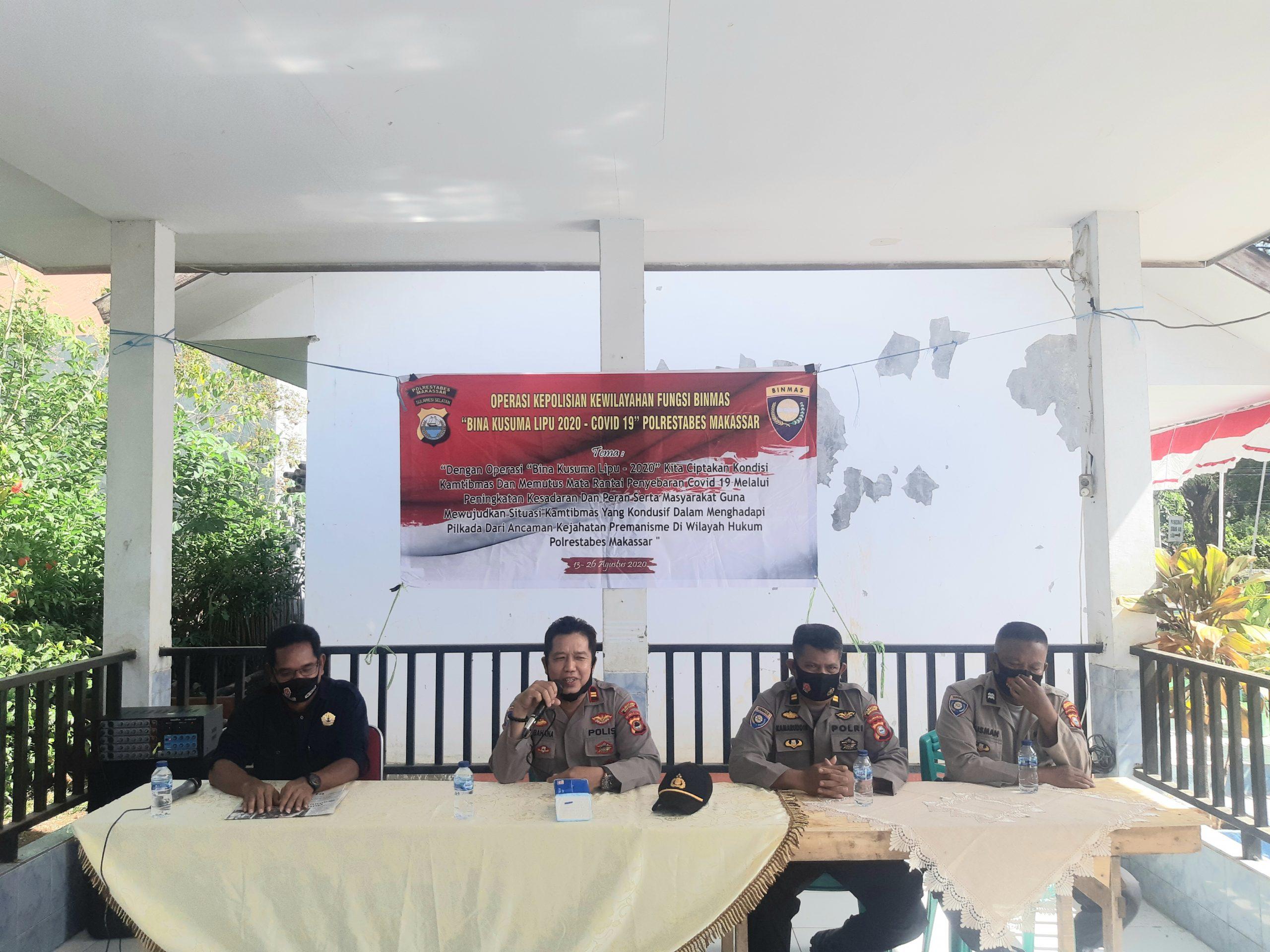 Sat Binmas Polrestabes Makassar Laksanakan Operasi Bina Kusuma Lipu 2020 Di Kel Laikang