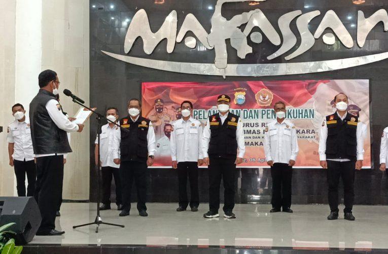 Ketua Daerah Pokdarkamtibmas Bhayangkara Sulsel Lantik Ketua Resor Kota Makassar